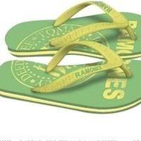 Ramones: Womens Green Logo - Size M (Sandals)