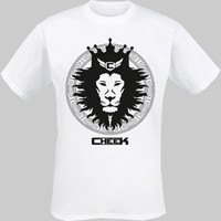 Cheek: Leijona lasten t-paita valkoinen