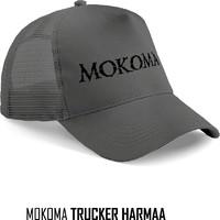 Mokoma: Harmaa logo trucker