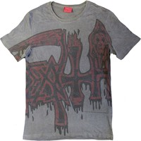 Death: Large logo - red (dye sub with black overdye)