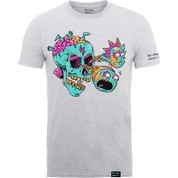Rick And Morty X Absolute Cult: Eyeball skull (heather grey)