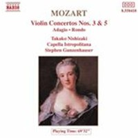 Mozart, Wolfgang Amadeus: Violin concertos 3 & 5