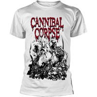 Cannibal Corpse: Pile of skulls (white)