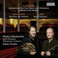 Schumann, Robert: Konzertstück for four horns and orchestra; adagio and allegro; morceau de concert; horn concerto