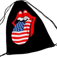 Rolling Stones: Usa tongue (draw string)