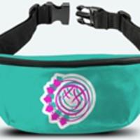 Blink 182: Smiley green (bum bag)