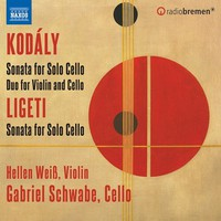 Kodály, Zoltan: Sonata for cello solo; duo for violin & cello; sonata for solo cello